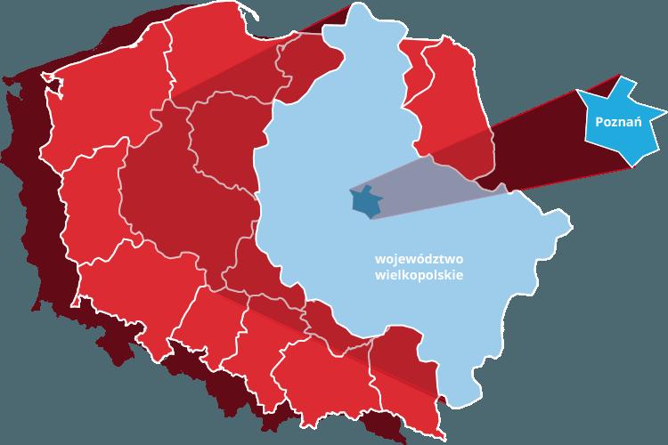 Mapa Wielkopolski